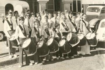 Fanfare de Paulhaguet en 1970