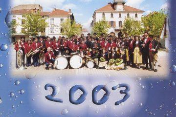 Calendrier 2003