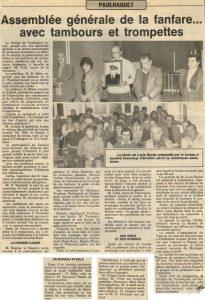 Assemblée Générale 1985