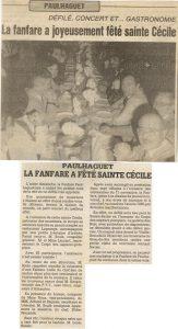 Sainte Cécile 1985