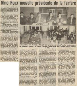 Assemblée Générale 1986