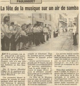 Fête de la musique 1986
