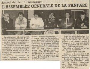 Assemblée Générale 1987