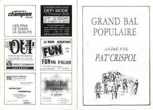 Programme Challenge Louis Bénier 1988