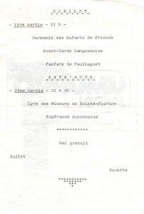 Programme Challenge Louis Bénier 1989