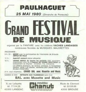 Affiche festival 1980