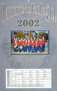 Calendrier 2002